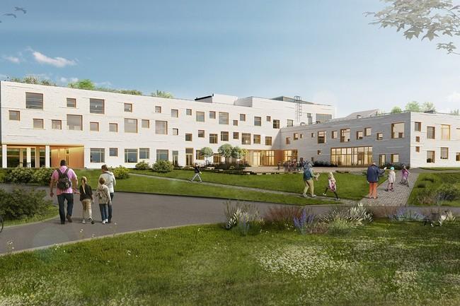 В Белгородской области строят школу по скандинавской технологии