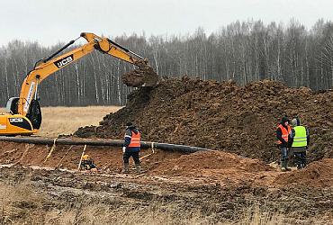 В Ярославской области построено четыре километра нового коллектора Дюдьково-Рыбинск