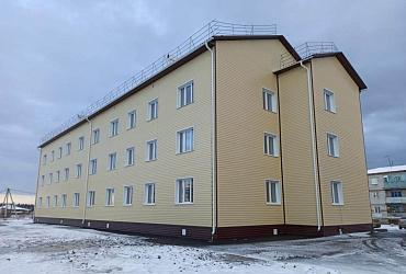 В Кузбассе завершается строительство нового дома для переселения жителей Тайги из аварийного жилья