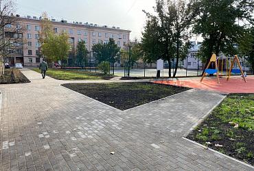 Завершено комплексное благоустройство территории в Нарвском округе Санкт-Петербурга
