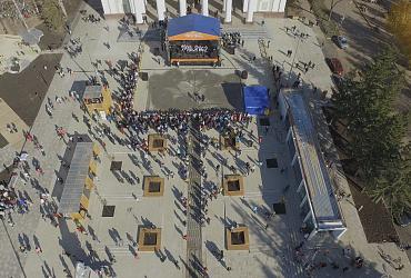 В башкирском Ишимбае после реконструкции открылась площадь - ВИДЕО