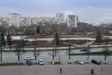 В 66-м квартале эспланады Перми сделаны основания новых пешеходных дорожек