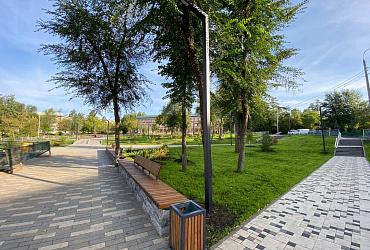 В Красноглинском районе Самары завершается благоустройство сквера Овчарова – ВИДЕО