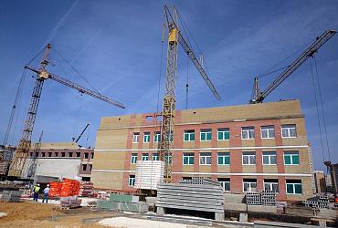 Новая школа в микрорайоне «Европейский» Липецка готова на 75%